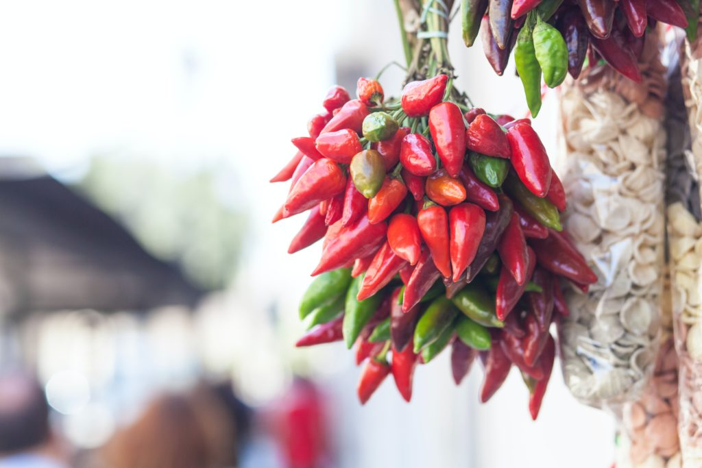 a branch of hot chilli peppers