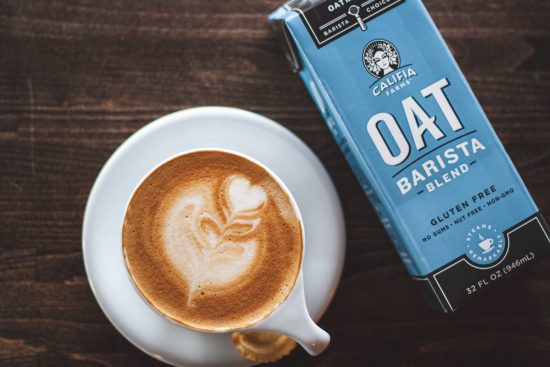 oat milk and coffee