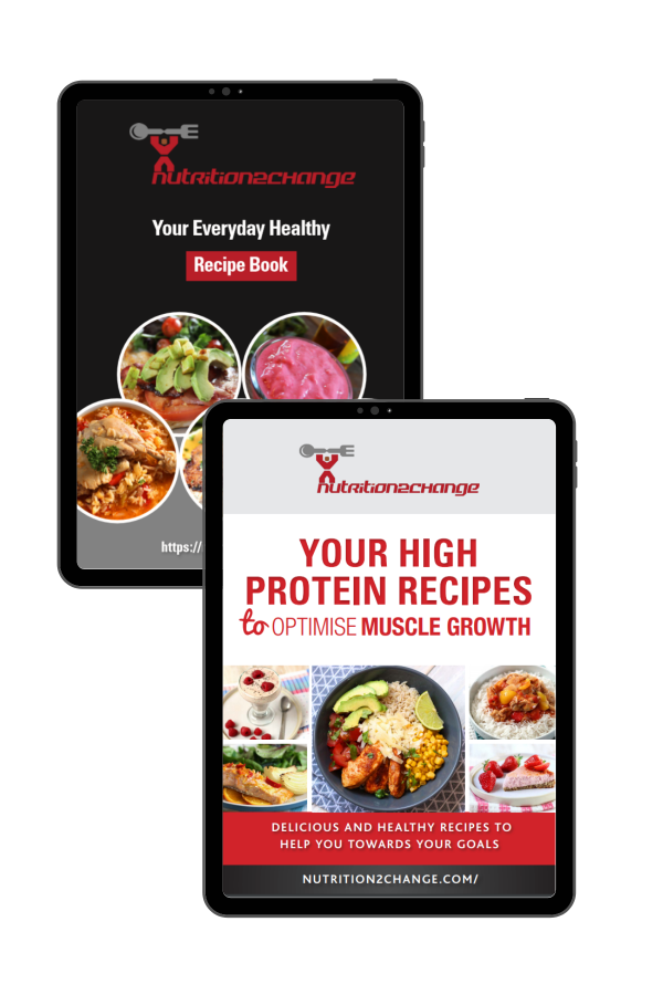 bundle of everyday and high protein recipe book