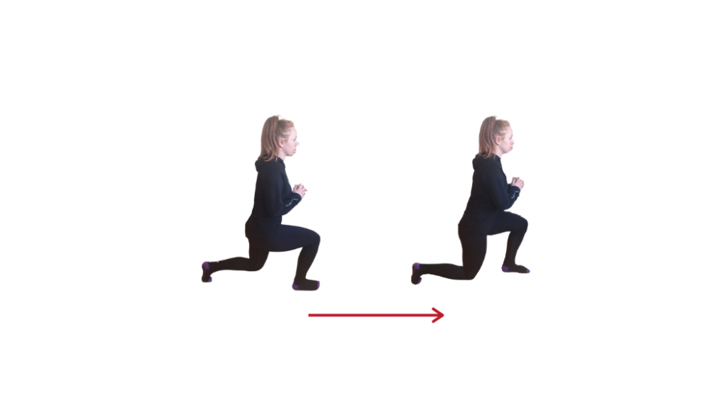 wlaking lunges illustration